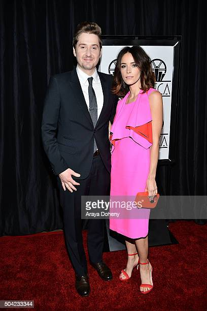 Duke Johnson and Abigail Spencer attend the 40th Annual Los Angeles Film Critics Association Awards at InterContinental Hotel on January 9 2016 in...