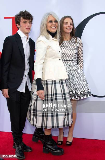 Duke Keaton Diane Keaton and guest attend the Book Club premiere on May 6 2018 in Westwood California