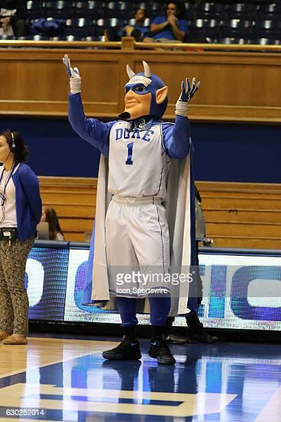 Duke mascot during an NCAA women's basketball game between the Elon University Phoenix and the Duke University Blue Devils on December 08 at Cameron...
