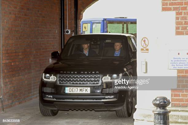Duke of Cambridge Prince William departs St Thomas's Battersea after dropping off Prince George for his first day school in London United Kingdom on...
