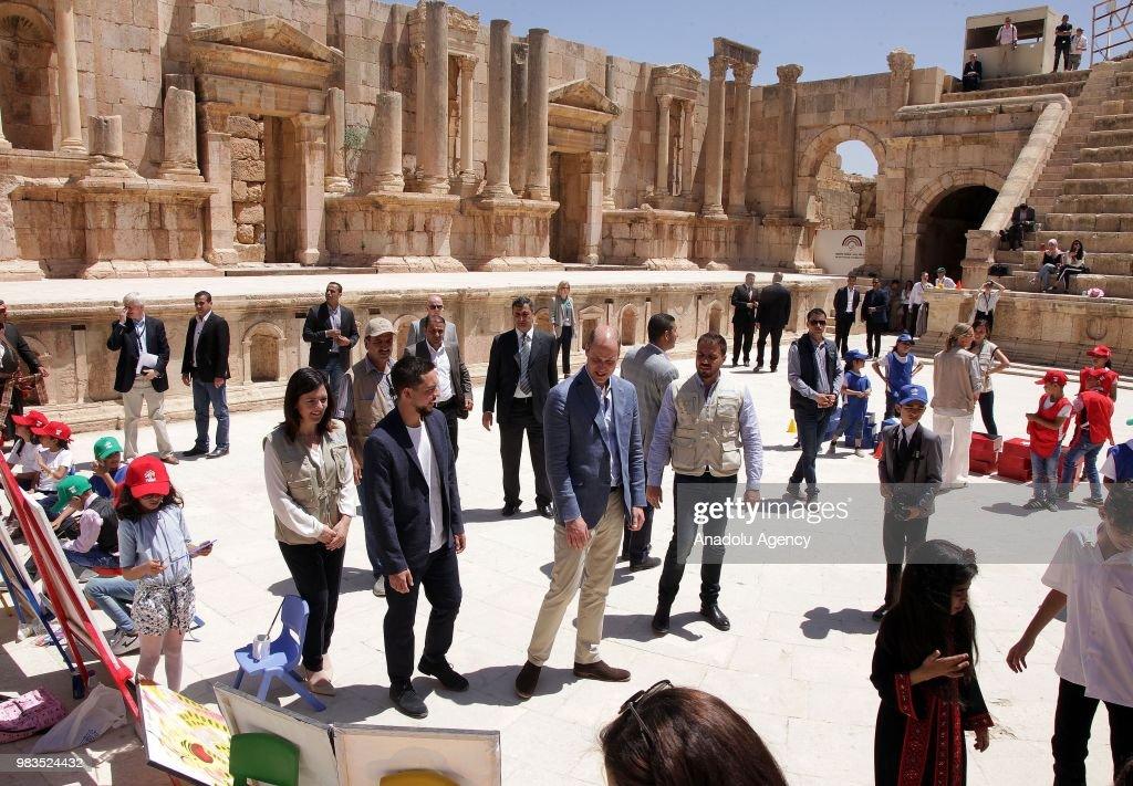 Duke of Cambridge Prince William in Jordan : News Photo