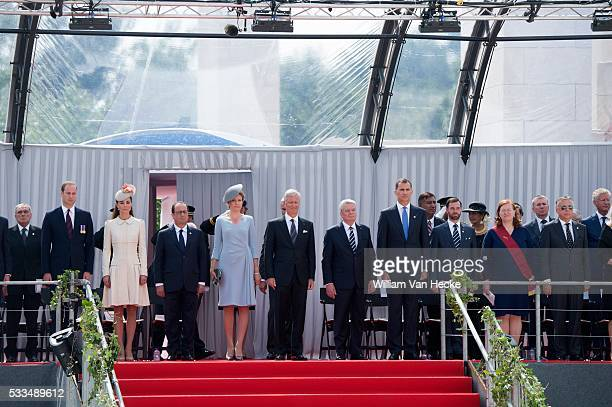 Duke of Cambridge William Duchess Catherine Francois Hollande Queen Mathilde King Philippe Joachim Gauck King Felipe and Guillaume of Luxembourg...