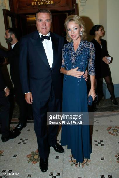 Duke of Castro Charles de Bourbon des DeuxSiciles and his wife Duchess of Castro Camilla de Bourbon des DeuxSiciles attend the Opening Season Gala...