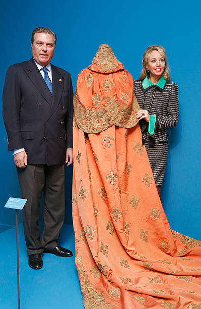 Duke of Castro Prince Carlo of BourbonTwo Sicilies and Duchess of Castro Princess Camilla of BourbonTwo Sicilies attend the 'Virtuti Merito'...