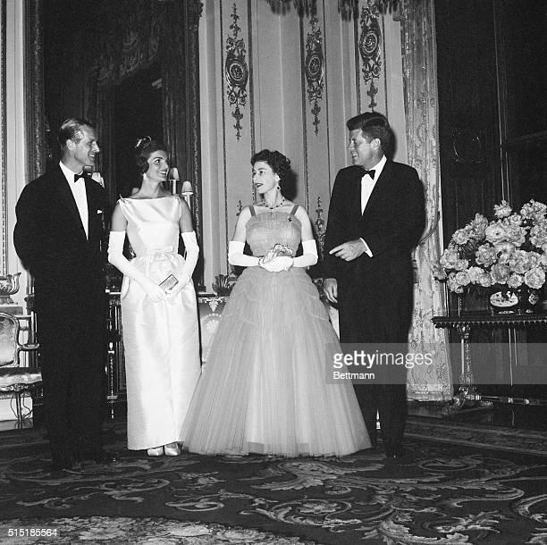 LR Duke of EdinburghJackie KennedyHM the Queen and President Kennedy