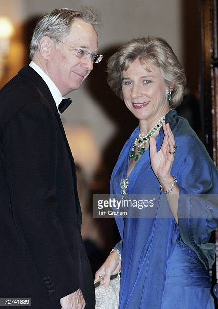 Duke of Gloucester and Duchess of Gloucester attend a private party to celebrate the 80th birthday of Queen Elizabeth II at the Ritz Hotel on...