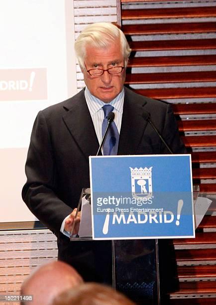Duke of Huescar Carlos Fitz-James Stuart attends the presentation of 'El Legado Casa de Alba' painting exhibition on September 14, 2012 in Madrid,...