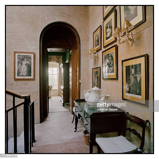 Duke of Marlborough's Blenheim Palace A corridor leading to guest rooms is photographed for Vanity Fair Magazine on October 2527 2010 in Woodstock...