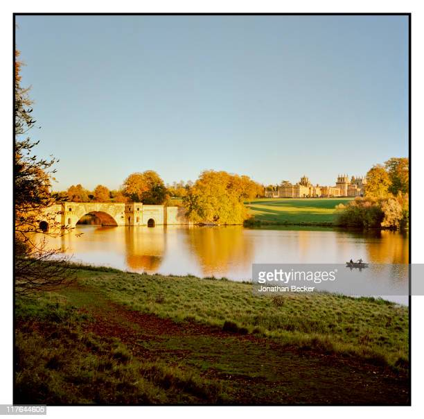 Duke of Marlborough's Blenheim Palace Grand Bridge is photographed for Vanity Fair Magazine on October 2527 2010 in Woodstock England