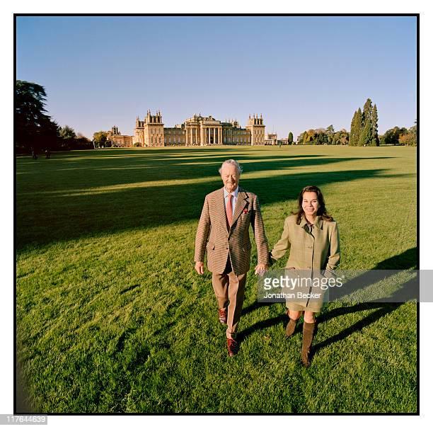 Duke of Marlborough's Blenheim Palace His Grace John George Vanderbilt Henry SpencerChurchill the Duke of Marlborough and wife Lily SpencerChurchill...