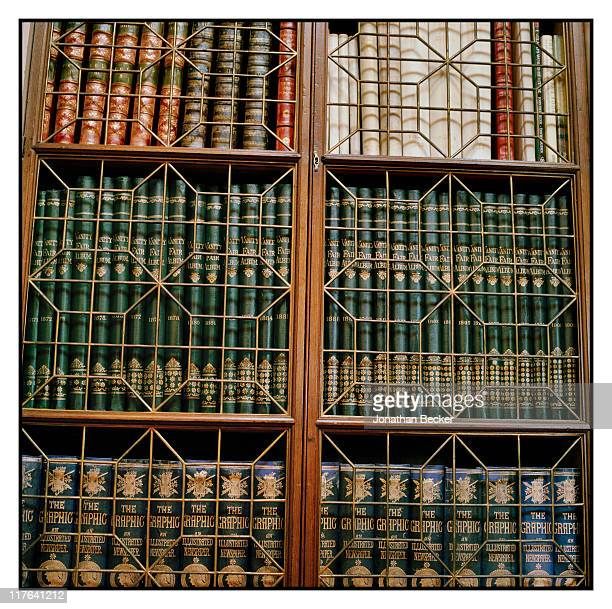 Duke of Marlborough's Blenheim Palace Leatherbound books are photographed in the Long Library for Vanity Fair Magazine on October 2527 2010 in...