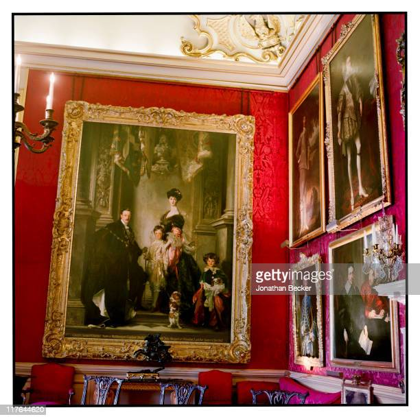 Duke of Marlborough's Blenheim Palace Paintings are photographed for Vanity Fair Magazine on October 2527 2010 in Woodstock England