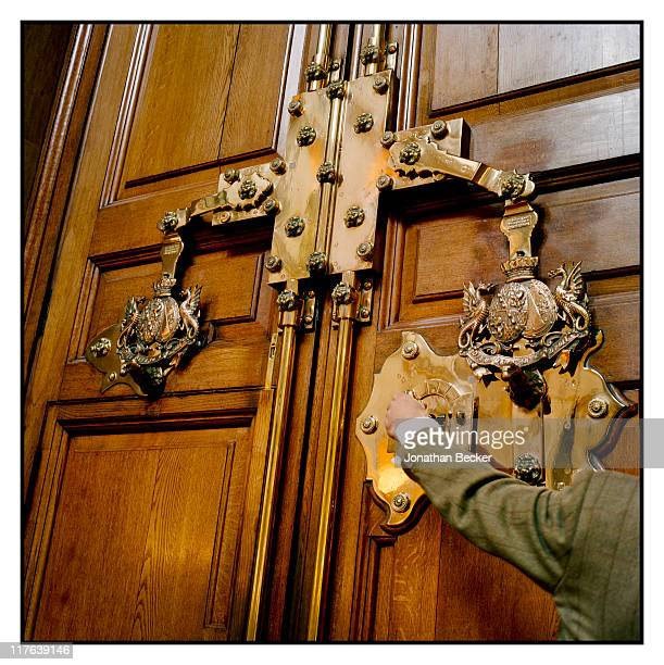 Duke of Marlborough's Blenheim Palace The brass lock on the main palace door is photographed for Vanity Fair Magazine on October 2527 2010 in...