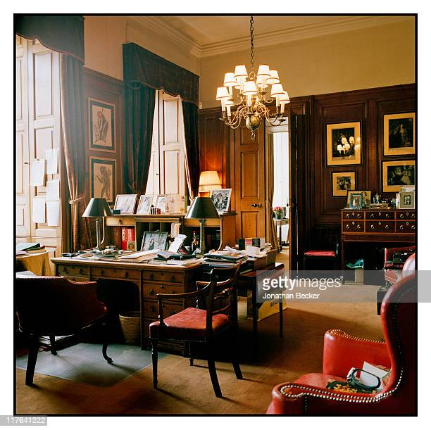 Duke of Marlborough's Blenheim Palace The Duke's private study is photographed for Vanity Fair Magazine on October 2527 2010 in Woodstock England...