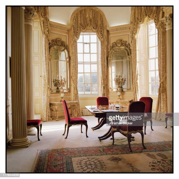 Duke of Marlborough's Blenheim Palace The family dining room is photographed for Vanity Fair Magazine on October 2527 2010 in Woodstock England