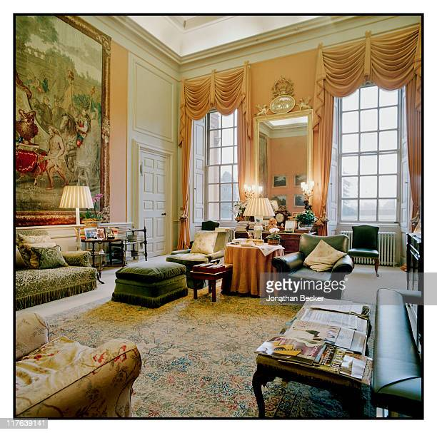 Duke of Marlborough's Blenheim Palace The family sitting room also known as the Smoking Room is photographed for Vanity Fair Magazine on October 2527...
