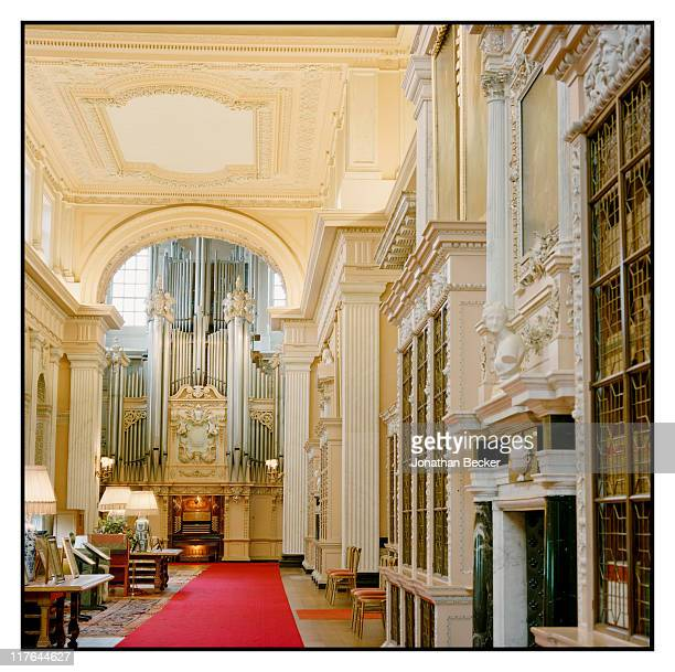 Duke of Marlborough's Blenheim Palace The organ is photographed for Vanity Fair Magazine on October 2527 2010 in Woodstock England
