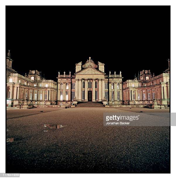 Duke of Marlborough's Blenheim Palace The palace is photographed at night for Vanity Fair Magazine on October 2527 2010 in Woodstock England