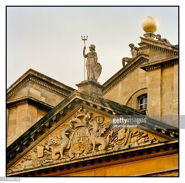 Duke of Marlborough's Blenheim Palace The pediment above the grand entrance is photographed for Vanity Fair Magazine on October 2527 2010 in...