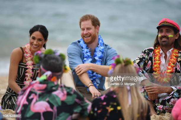 HRH Duke of Sussex Prince Harry and Duchess of Sussex Meghan Markle on October 18 2018 in Sydney Australia