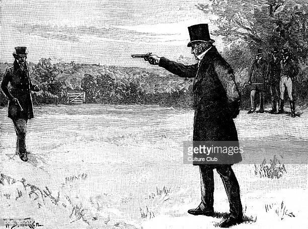 Duke of Wellington s Duel with George FinchHatton 10th Earl of Winchilsea Battersea Fields on 21 March 1829 DW Arthur Wellesley 1st Duke of...