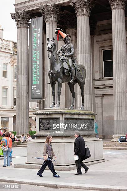 duke of wellington statue, glasgow - theasis stockfoto's en -beelden