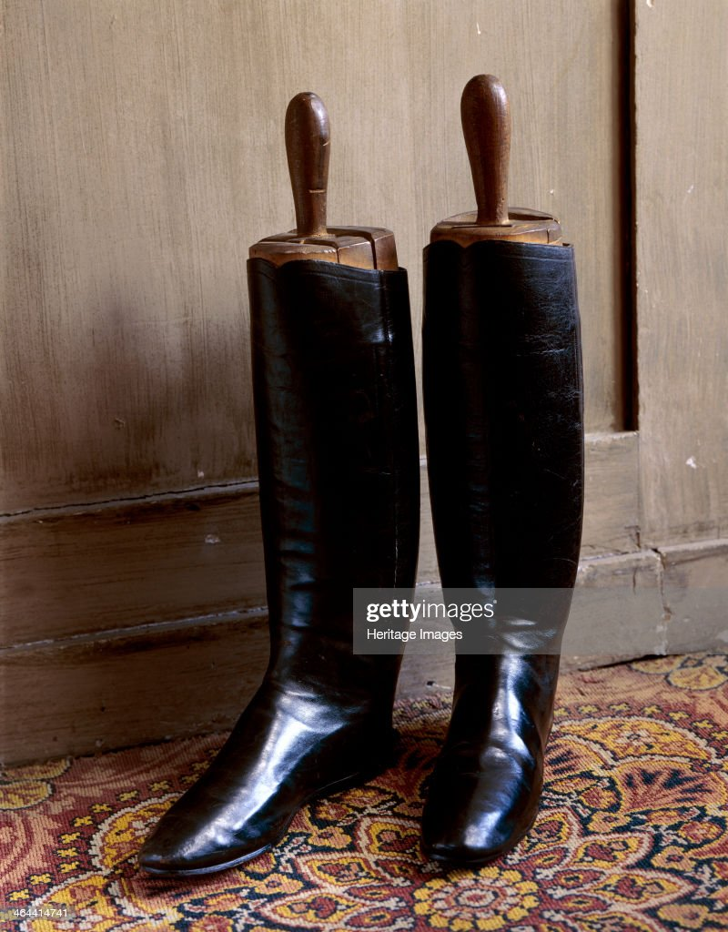 Duke of Wellington's Boots, Walmer Castle, Deal, Kent, 1991. Walmer Castle was built by Henry VIII. It became the official residence of the Warden of the Cinque Ports, of which the Duke of Wellington was one in the 19th century.