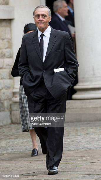 Duke of Westminster attends a requiem mass for Hugh van Cutsem who passed away on September 2nd 2013 at Brentwood Cathedral on September 11, 2013 in...