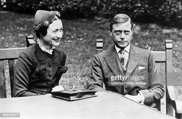 Duke of Windsor formerly King Edward VIII with Mrs Wallis Simpson Chateau de Cande near Tours France 1937