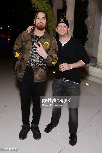 Duke Riley and Peter von Gontard attend Lil Wayne's Funeral album release party on February 01 2020 in Miami Florida
