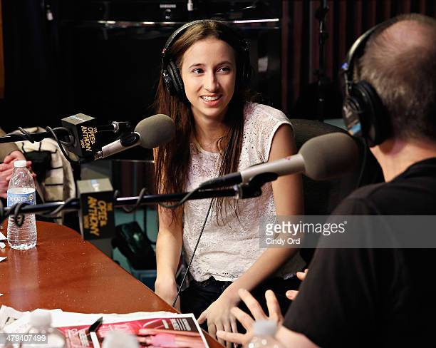 Duke University student/ adult film star Belle Knox visits 'The Opie Anthony Show' at the SiriusXM Studios on March 18 2014 in New York City