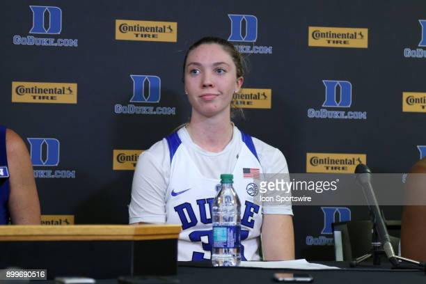 Duke's Erin Mathias during the Duke Blue Devils game versus the Ohio State Buckeyes on November 30 at Cameron Indoor Stadium in Durham NC in a...