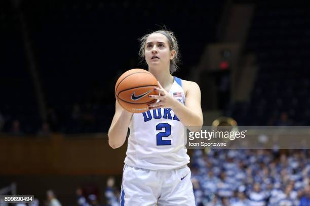 Duke's Haley Gorecki during the Duke Blue Devils game versus the Ohio State Buckeyes on November 30 at Cameron Indoor Stadium in Durham NC in a...