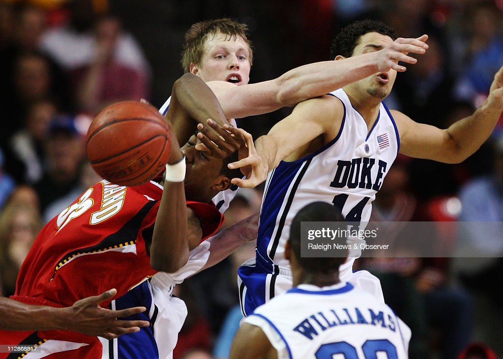 Dukes Kyle Singler And David McClure Fight With Marylands Dino Gregory 33 For A
