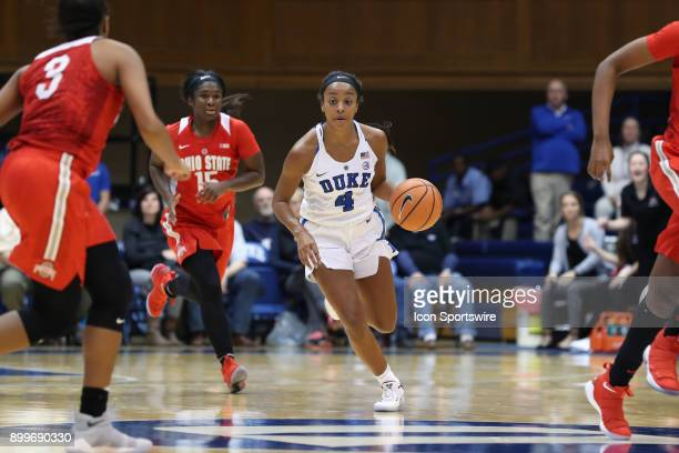 Duke's Lexie Brown during the Duke Blue Devils game versus the Ohio State Buckeyes on November 30 at Cameron Indoor Stadium in Durham NC in a...