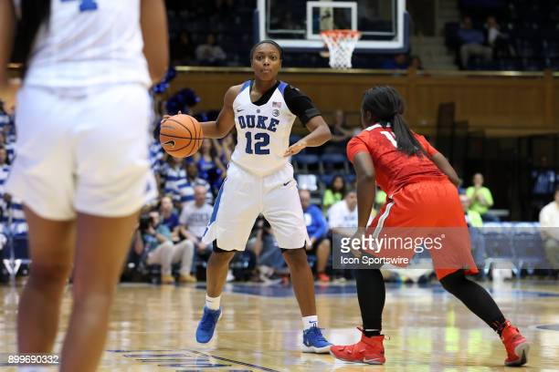 Duke's Mikayla Boykin during the Duke Blue Devils game versus the Ohio State Buckeyes on November 30 at Cameron Indoor Stadium in Durham NC in a...