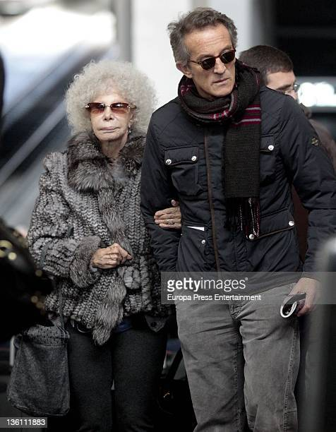 Dukes of Alba Cayetana FitzJames Stuart and Alfonso Diez are seen on December 19 2011 in Madrid Spain