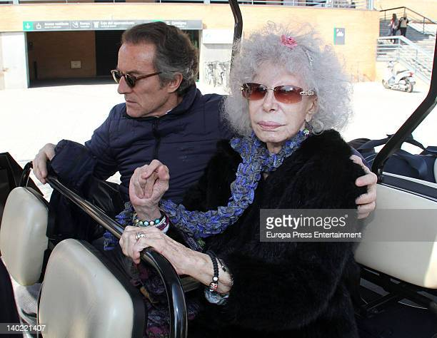 Dukes of Alba Cayetana FitzJames Stuart and Alfonso Diez are seen on February 29 2012 in Seville Spain