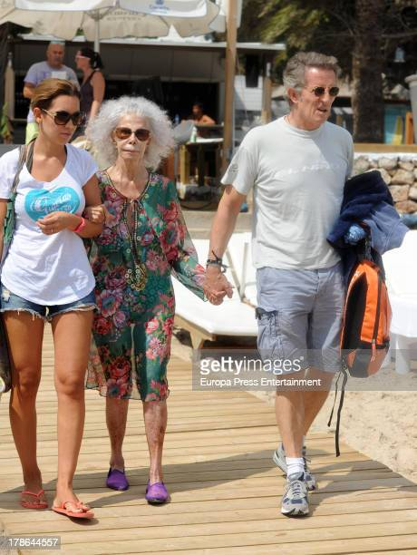 Dukes of Alba Cayetana FitzJames Stuart and Alfonso Diez are seen on August 29 2013 in Ibiza Spain