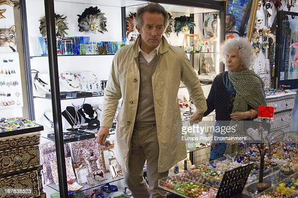 Dukes of Alba Cayetana FitzJames Stuart and Alfonso Diez are seen visiting Rome on April 20 2013 in Rome Italy
