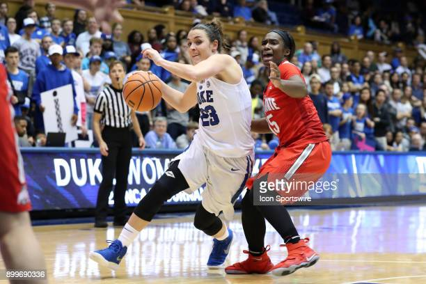 Duke's Rebecca Greenwell and Ohio State's Linnae Harper during the Duke Blue Devils game versus the Ohio State Buckeyes on November 30 at Cameron...