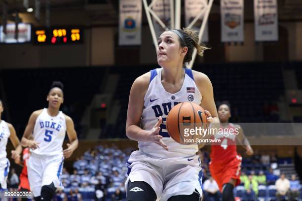 Duke's Rebecca Greenwell during the Duke Blue Devils game versus the Ohio State Buckeyes on November 30 at Cameron Indoor Stadium in Durham NC in a...