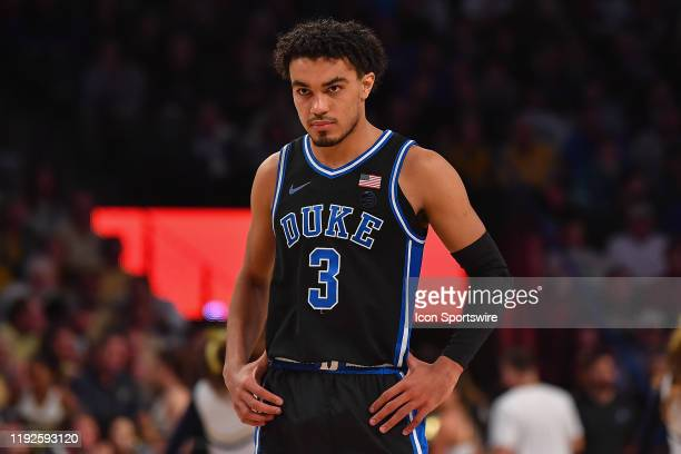 Duke's Tre Jones during the NCAA basketball game between the Duke Blue Devils and the Georgia Tech Yellow Jackets on January 8th, 2020 at McCamish...