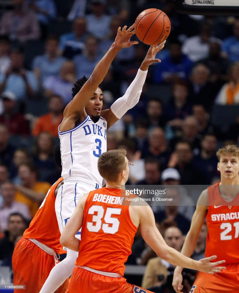 Duke S Tre Jones Passes Out Of The Pressure By Syracuse S