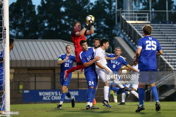 Duke's Will Pulisic catches a ball in traffic The Duke University Blue Devils hosted the Presbyterian College Blue Hose on September 5 2017 at...