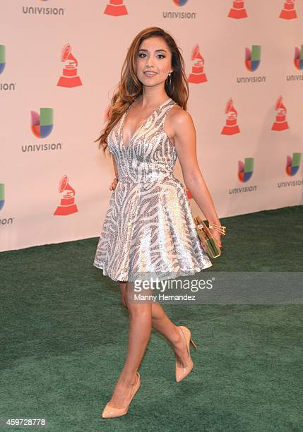 Dulce Candy arrive at the 15th Annual Latin Grammy Awards on November 20 2014 in Las Vegas Nevada