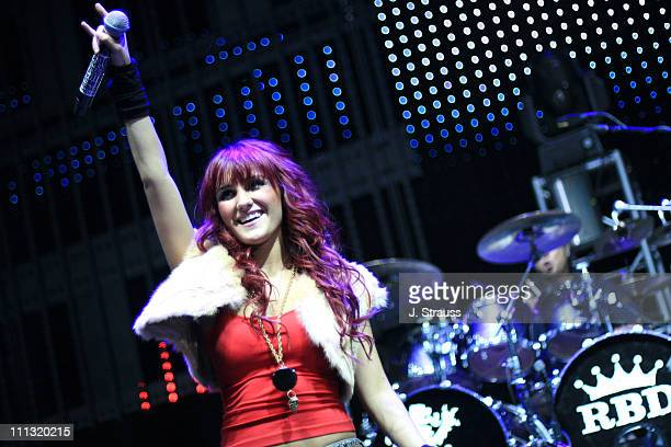Dulce Maria Espinoza Savinon of RBD during 1027 KIIS FM 'Jingle Ball' 2006 at Honda Center in Anaheim California United States