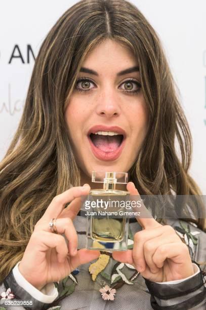 Dulceida attends 'Mucho Amor' frangance presentation at Perfumeria Druni on February 14 2017 in Madrid Spain