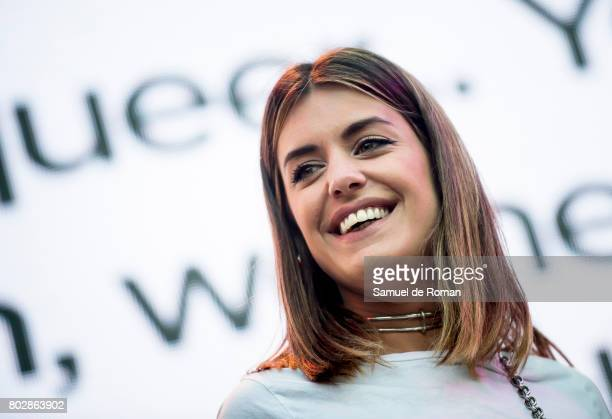 Dulceida during the opening speech at the Madrid World Pride 2017 on June 28 2017 in Madrid Spain
