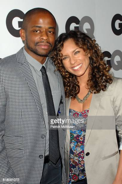 Dule Hill and Nicole Lyn attend GQ 2010 Men Of The Year Party at Chateau Marmont Hotel on November 17 2010 in Los Angeles California
